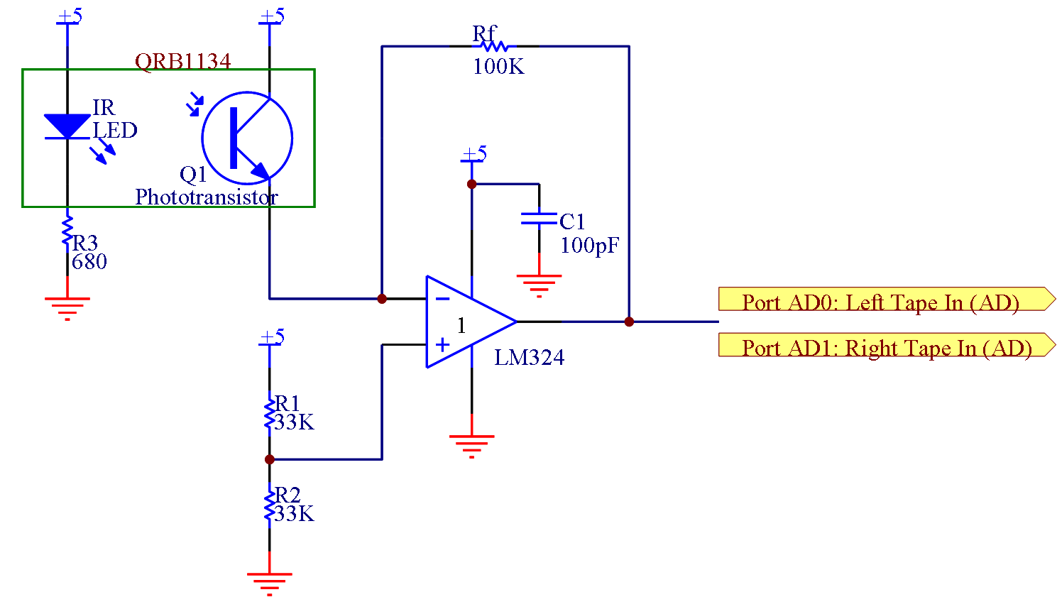 Battleship Ir Sensor Circuit Diagram Using Lm324 Instead The Robot Coordinates From Fac To Determine Our Position And Orientation At Any Given Time Thus We Kept Tape Circuits On